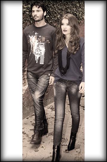 Jeans Legião para ele e para ela.